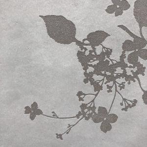 PETIOLARIS - série Herbarium - grès gris - détail