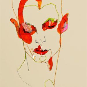 Dream of a lobster 2021 feutre fin, feutre couleur et encre sur papier 42 x 29,7 cm