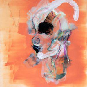 White spirit 2020 huile sur toile 55 x 46 cm