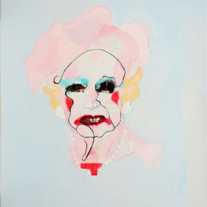 Her last makeup 2020 huile sur toile 55 x 46 cm
