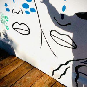 Fresque murale Les Esprits du jardin des Charmes